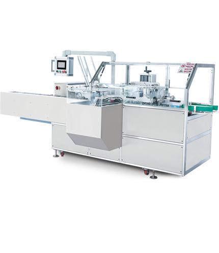 TMK-100B型自动装盒机,自扣底装盒机,挂钩盒装盒机